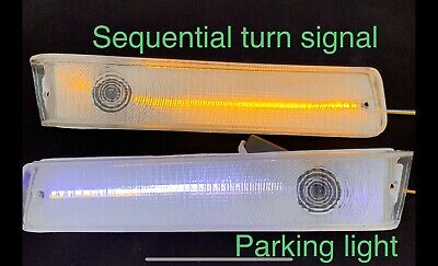 FORD F-150 250 350 SERIES bronco 78 - 79 CLEAR FRONT TURN SIGNALS LED Built In