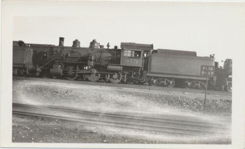 Vintage 1930s Real Photo Chicago & Alton Railroad 2-6-0 Steam Engine Train #313