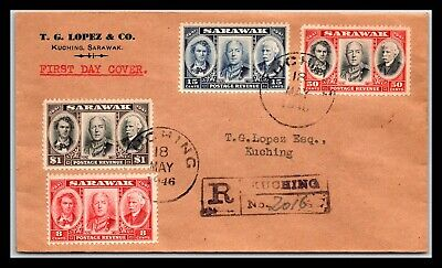 GP GOLDPATH: SARAWAK COVER 1946 REGISTERED LETTER FIRST DAY COVER _CV699_P21
