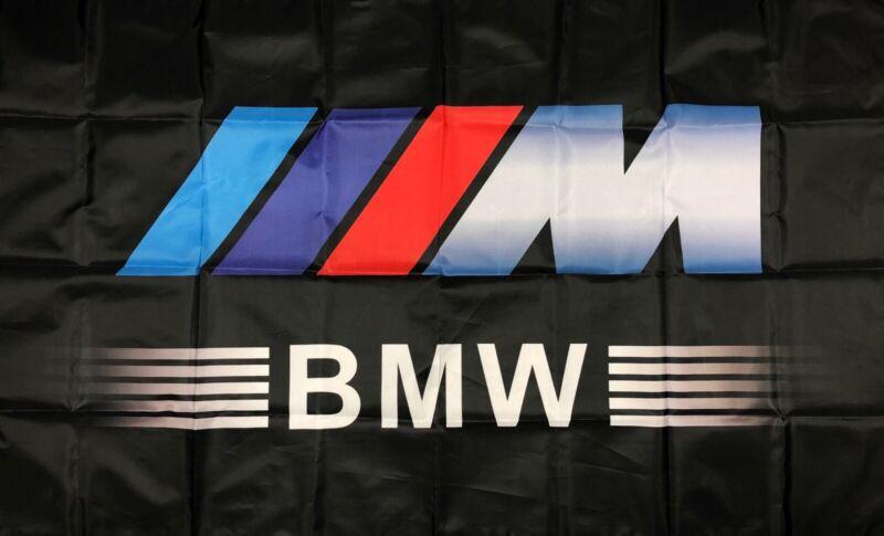BMW M Series Logo Car Flag 3x5 ft Racing Garage Banner M3 M4 M5 M6 Motorsport