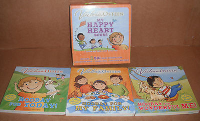 Lot of 3 My Happy Heart Books Set by Victoria Osteen Board Book NEW