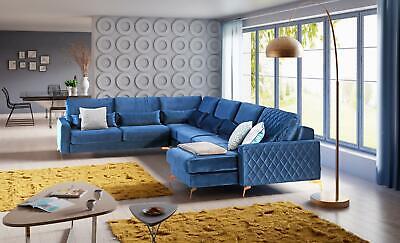 Terciopelo Tela Asiento Conjunto de Diseño Muebles para Salón Sofá la Esquina U