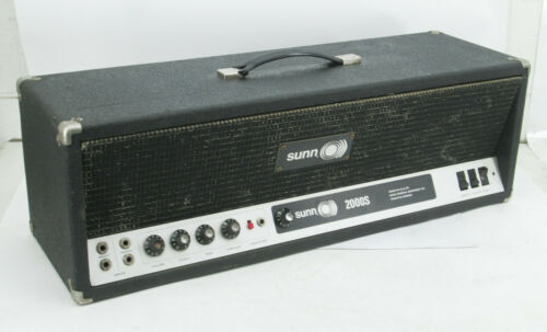 Vintage Sunn 2000S Electric Guitar All-Tube Bass Amplifier Head