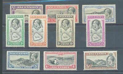 Ascension 1934 sg.21-30 MH set of 10