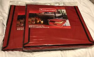 2 Brand New Rubbermaid Underbed Storage Boxes