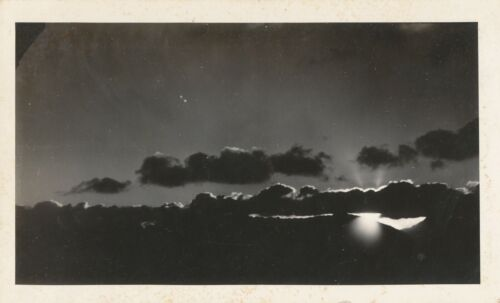 1940s WWII Sailor stationed at Wahiawa NRS Oahu,Hawaii Photo sunset from station