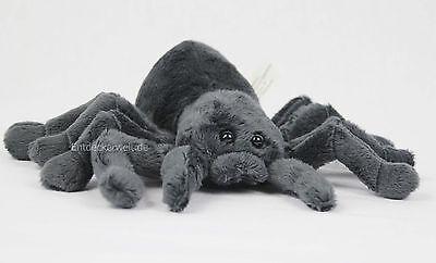 Stofftier Spinne schwarz, Kuscheltier, Plüschtier, (Breite ca. 21cm)