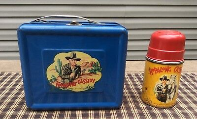 VINTAGE METAL LUNCHBOX HOPALONG CASSIDY
