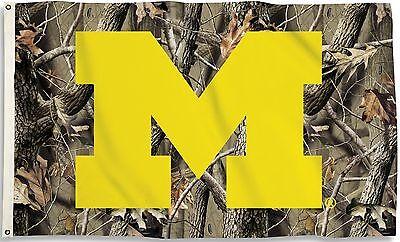 Michigan Wolverines 3' x 5' Flag (Realtree Camo) NCAA Licensed 5' Realtree Camo Flag