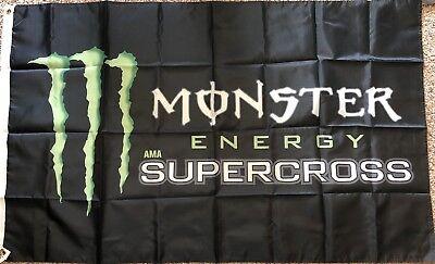 Monster Energy Flag 3x5 AMA Supercross Motorcross dirt bike motorcycle Racing MX