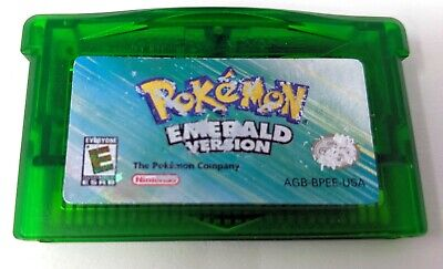 Pokemon Emerald Version Game Boy Advance *New Battery* Authentic Tested & -