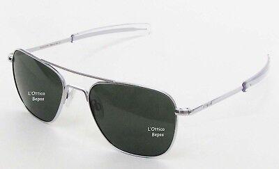 Randolph Sonnenbrille Mod: Af086 Sun 55 Chrome Matte Objektiv Glass Agx Ar