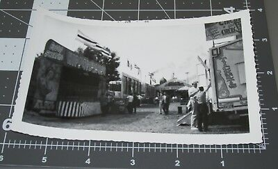 COLE BROS CIRCUS Ticket Booth Sign Hippo Trailer MIDWAY Vintage Snapshot PHOTO 4 (Carnival Ticket Booth)