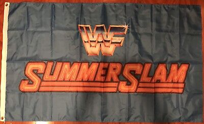 SUMMER SLAM WWF World Wrestling-WCW WWE 3'x5' Feet Blue Flag Banner USA Shipper - Wwe Banner