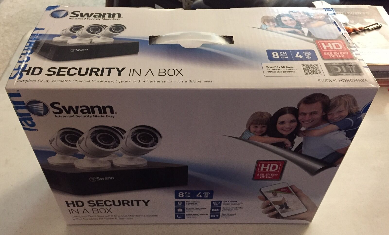 Swann SWDVK-HDHOMK84 8 Channel Security Cameras //NEW//