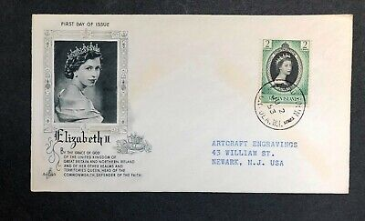 Virgin Islands 1953 Coronation FDC First Day cover