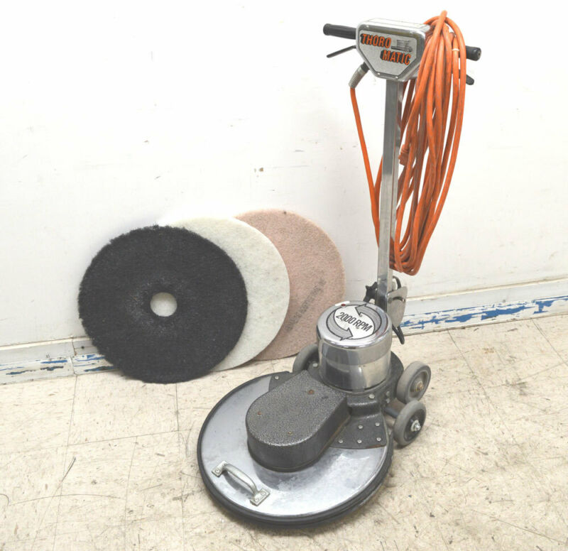 "Thoro-Matic TM2000 2000-RPM 20"" Floor Scrubber Buffer Polisher Walk-Behind 115V"