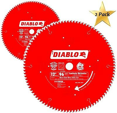 2 Pack Freud D1296l Diablo Melamine Laminate Flooring And Wood Saw Blade 12-in