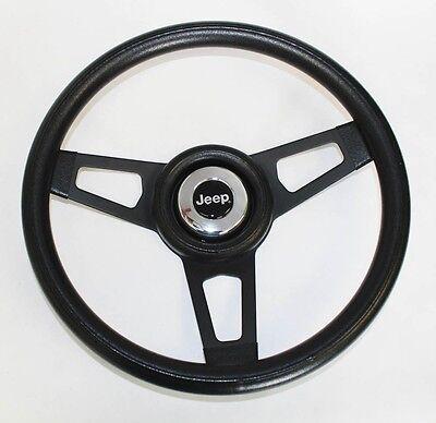 """Jeep CJ YJ Wrangler Cherokee Grant Black Steering Wheel black spokes 13 3/4"""""""