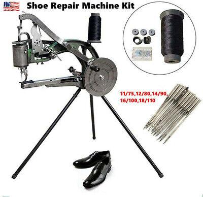 Hand Cobbler Shoe Repair Sewing Machine Leather Cloth Cotton Nylon10pcs Needles