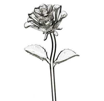 Waterford Crystal Rose Fleurology Flower Sculpture Figurine *New in Box*