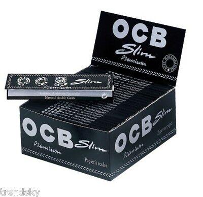 1 Schachtel OCB Premium Slim Schwarz 50 x 32 Blatt Long Papers Zigaretten Papier