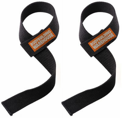 Canvas Weight Lifting Straps Wrist Wrap Gym Training Lifting Support Black