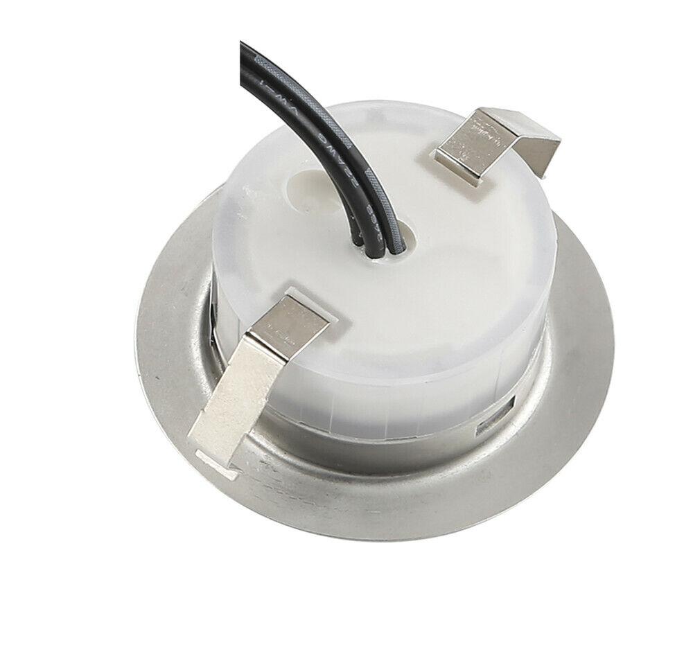 6er set 45mm rgb led boden einbaustrahler treppe leuchte minispot au enlampe ebay. Black Bedroom Furniture Sets. Home Design Ideas