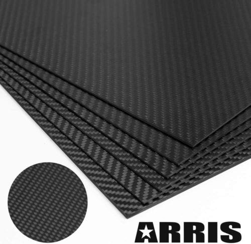 ARRIS 400X500X4mm 100% 3K Carbon Fiber Plate Plain Weave Sheet (Glossy Surface