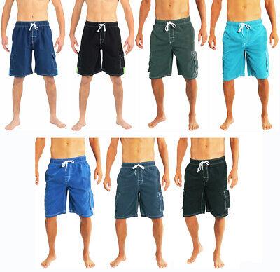 Norty Men's Big Plus King Size Swim Trunks Swimsuit XL - 5X