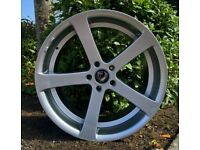 """(NEW) 19"""" x8.5 Cades Apollo Alloy wheels and tyres (5x112) Suits most VW GOLF, SEAT AND AUDI MODELS"""