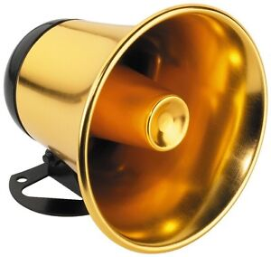 Monacor Druckkammerlautsprecher Druckkammer Lautsprecher Boxen gold RUP-5