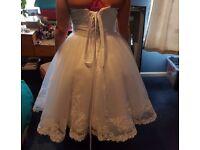 Wedsing bridal dress new short white