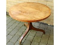 Antique BAKER FURNITURE Wooden Circular Occasional Table.