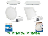 3Watts Square led Recessed Panel Ceiling Down White Light Ultra Slim Round & Square Flat Panel