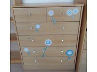 SIX DRAW CHEST OF DRAWS IN VERY GOOD USED CONDITION FREE LOCAL DELIVERY 07486933766