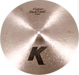 "Zildjian k custom dark crash 16"""