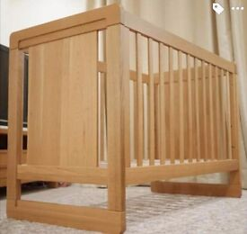 Aspace Avalon solid oak cot