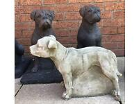 Stone Staffordshire bull and boxer dog garden etc