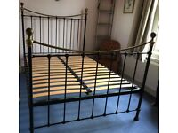 Laura Ashley black metal double bed frame, with or without mattress
