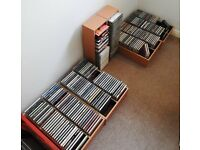 CDs: 197 mixed pop and other genres plus 29 classical, including wooden storage racks