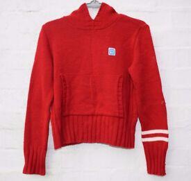 "Performance Ladies or Men's Red Knitted Style Hoodie C39"""