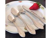 New Stainless Steel 24pcs Cutlery Set 18/8