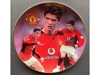 Wanted Cristiano Ronaldo Man Utd Danbury Mint Plate Manchester United