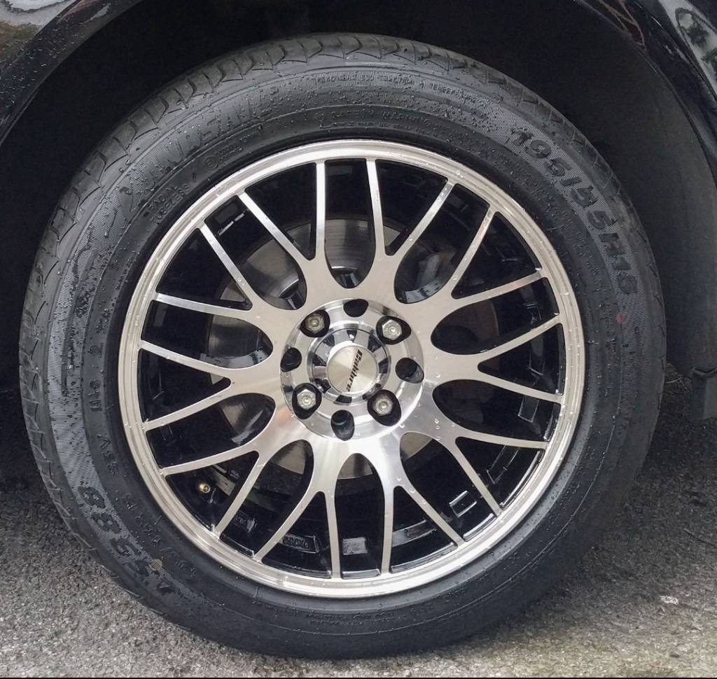 Alloy wheels and tyresin Liverpool City Centre, MerseysideGumtree - 195/55/15 4 stud multiple fit PCD 108 or 100Calibre motion rims Like brand new worth alot more but dont have the space to store anymore. Cash on collection only Thanks