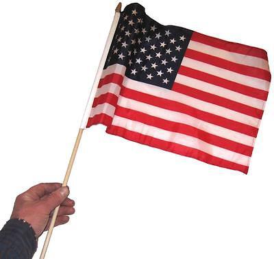5 pcs USA Flag 12x18 stick flag American waving flag NEW