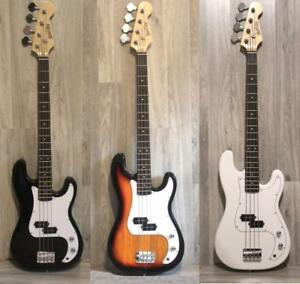 Bass Guitars for beginners 4 string Black, White, Sunburst Brand new