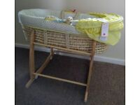 Brand new moses basket and used stand
