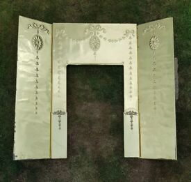 Brass fireplace insert (surround)