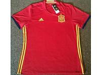 Spain Euro 2016 Home Football Shirt Size Extra Large